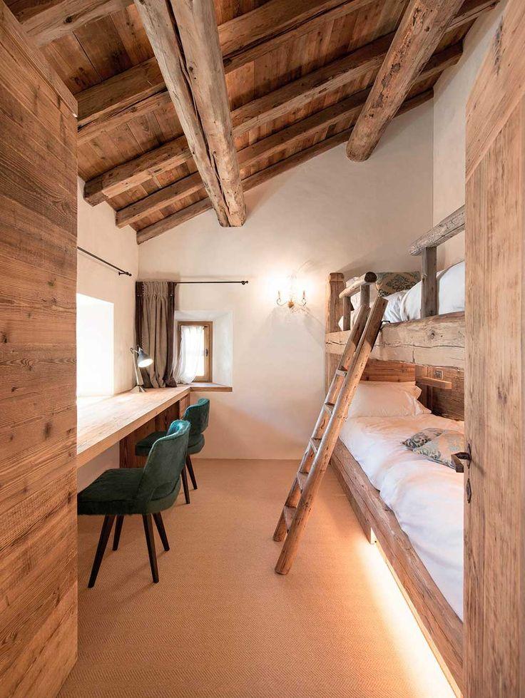 En una casa de madera