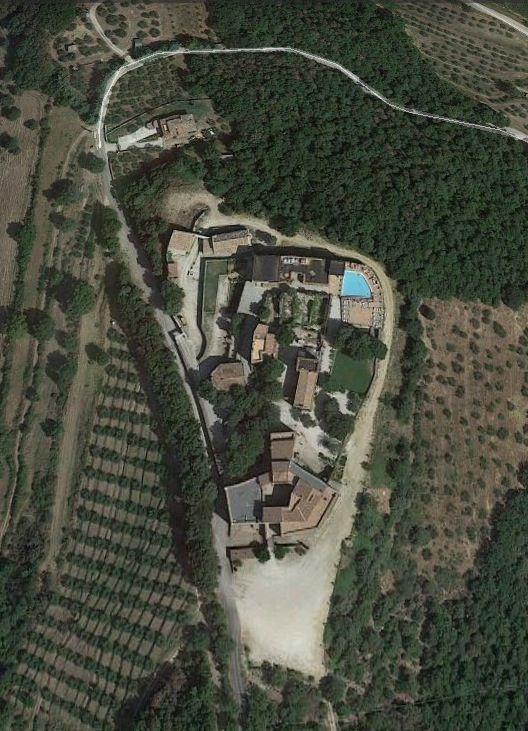 Aerial view of Castello di Roaciano