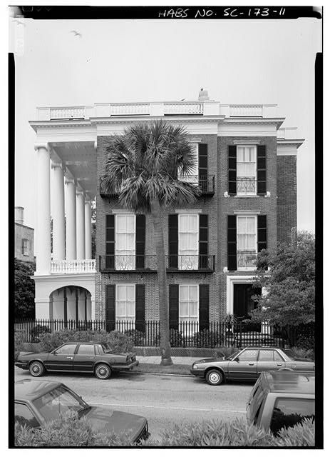 Roper House, built 1838 commands a sweeping view of Charleston, SC harbor, past Fort Sumter, where the Civil War started to the Atlantic Ocean beyond. Built by Robt. Wm. Roper, prominent cotton planter, the house is an outstanding example of early 19th Century Greek Revival architecture in a city better known for its 18th Century Georgian-style appearance. Roper House is built on a monumental scale, with massive two-story high Ionic columns raised above a 1st floor arched loggia pedestal…