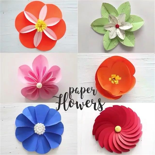 By Ventunoart 6 Easy Paper Flowers Follow Ventunoart Diy