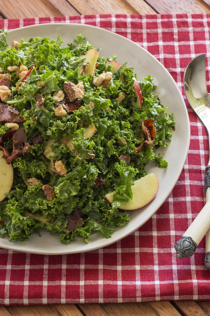 Kale, Apple and Walnut Salad - Cooking with Tenina