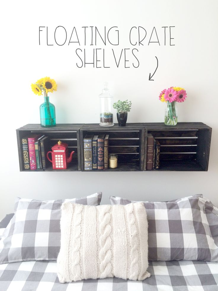 Floating #Crate #Shelves #diy | Red Autumn Co.
