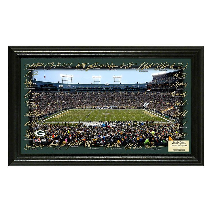 Officially Licensed NFL 2017 Signature Gridiron Print - Packers