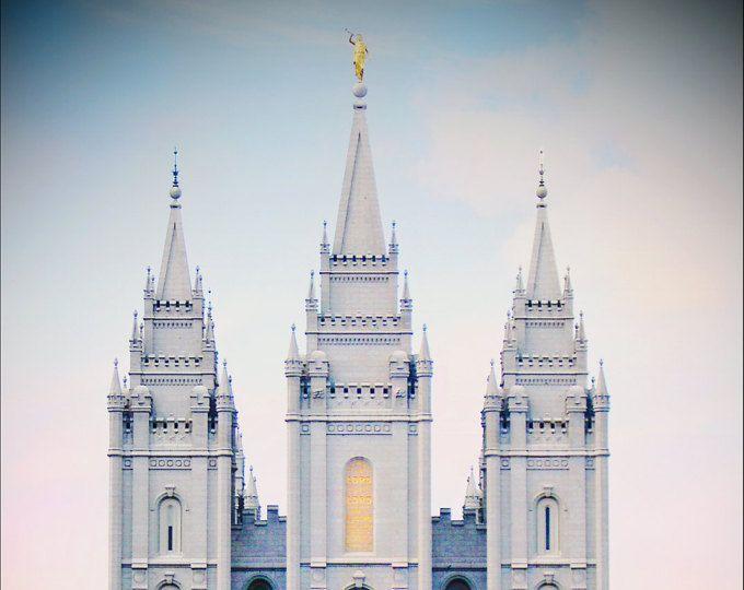 Salt Lake Temple - Pastel Sky