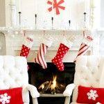manto rojo y blanco de la Navidad
