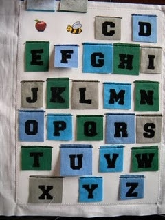 Quiet Book Ideas - Lift-the-flap alphabet with pictures