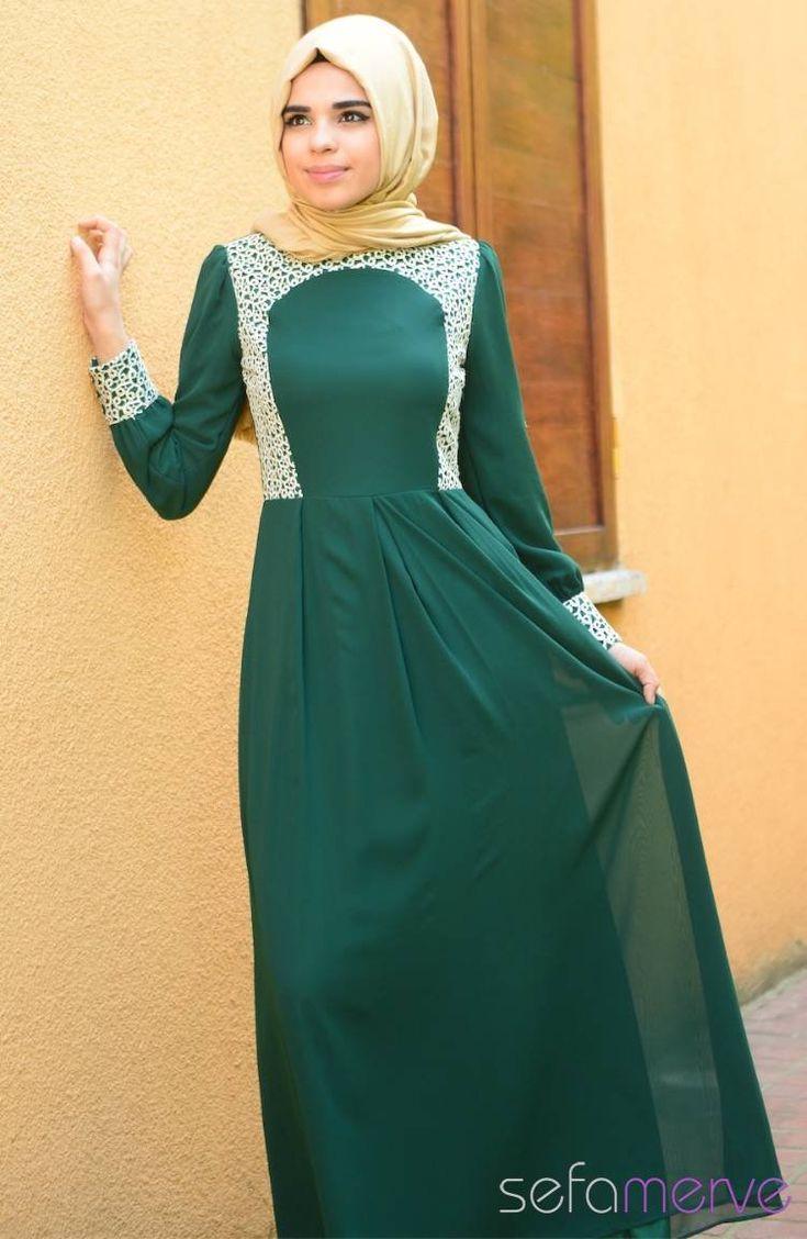 Tesettür Elbise Yeşil #sefamerve #tesettur #tesetturgiyim #elbise#yenisezon #2014 #Hijabdress #Hijab #newseason #greenhijab