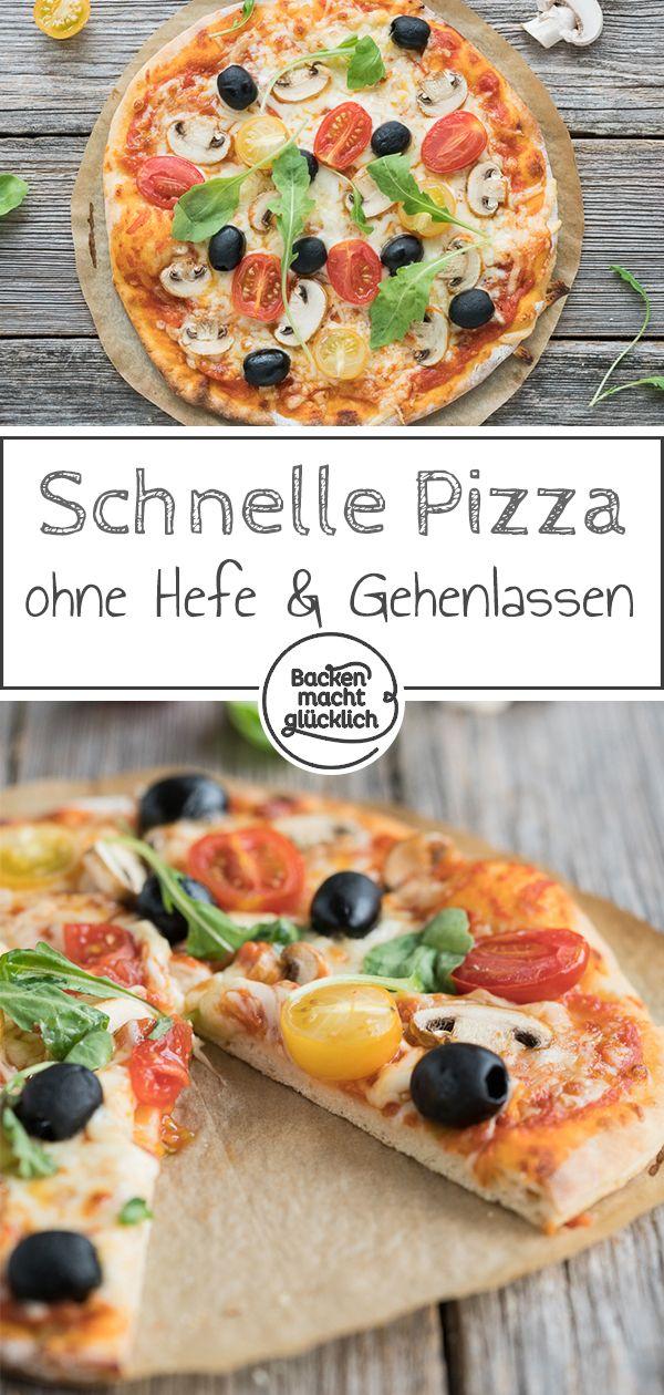 Schneller Pizzateig Ohne Hefe Rezept Brot Pizza Pasta Und