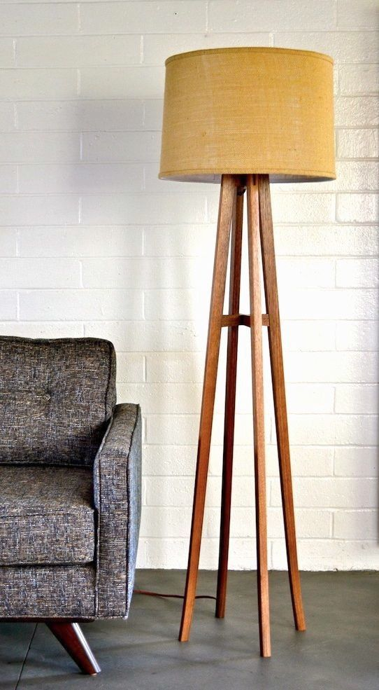 Items similar to autumn floor lamp burlap shade on etsy