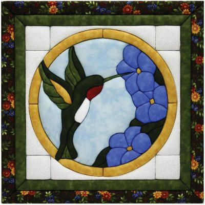 "Hummingbird Quilt Magic Kit-12""X12"""