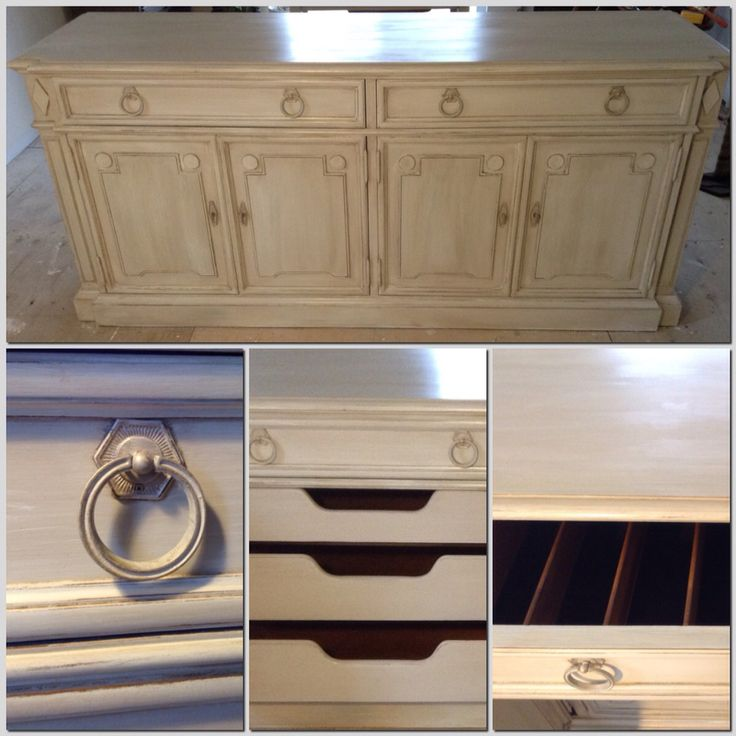 Vintage Thomasville furniture/French country buffet/credenza/chalk painted  weathered antique white - 23 Best Thomasville Vintage. Images On Pinterest Faux Bamboo