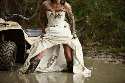 wreck the dress play in the mud wedding pinterest