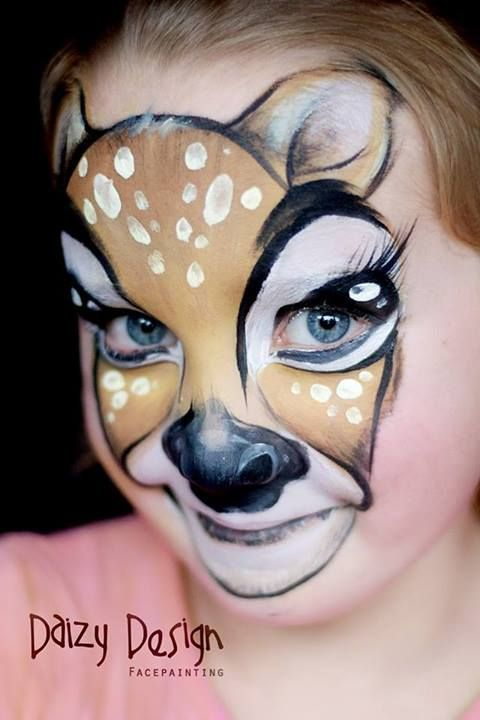 the cutest reindeer face paint Loved by http://makeupartistrycairns.com.au