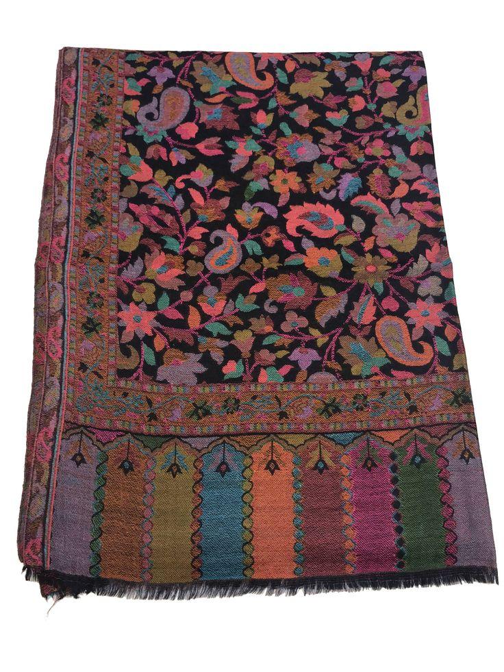 Kani Scarf, Pure Wool Scarf/Shawl, Woven Art, Women Scarf, Stole, Wrap, Kashmiri Kani, Girl Shawl, Kashmiri Shawl, Kani Weave, Woven Design by AngadCreations on Etsy #woven #fashion #kashmiri #india #women #kani #shawl #wrap #pure #wool #fine #warm #winter #black #natural #traditional #multicolour #wrap #shawl #Woven #Art #Women #Scarf #girl #Kashmir #indian #wear #fashion #accessories