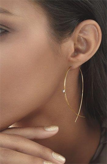 Earrings | Lana Jewelry.  'Large Upside Down' Diamond Hoops
