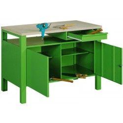 Meble warsztatowe nie muszą być nudne! Wypróbuj stoły w modnym, zielonym kolorze: http://www.polinski.eu/19-meble-warsztatowe #meble #warsztatowe