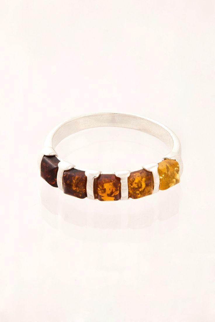 Multi Stone Amber Ring