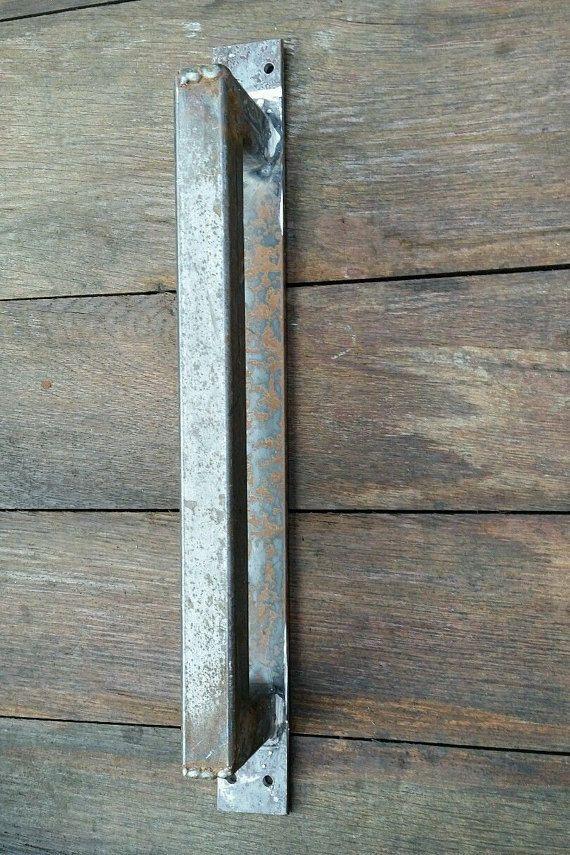Vintage Salvage Industrial BARN DOOR Steel HANDLE by Salvagebee