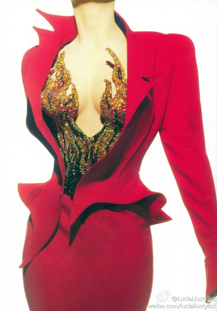 1988. Thierry Mugler: Devil Costumes, Design Clothing, Style Inspiration, Hunger Games, Red Suits, Thierry Mugler, Awesome Costumes, Costumes Ideas, Amazing Dresses