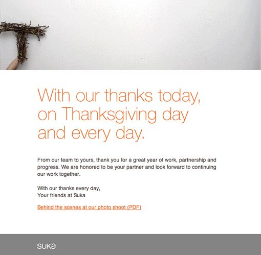 74 best thanksgiving marketing images on pinterest happy thanksgiving email from suka by suka including a cute and simple animated gif m4hsunfo