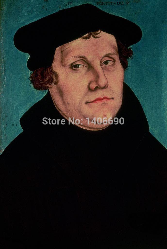 Высокое качество TOP art oil painting -- 24*36 живопись маслом на холсте-Мартин Лютер портрет-Бесплатная стоимость доставки