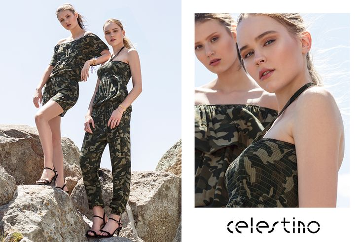 We love camo prints. Especially when they come in two different styles. #jumpsuit #playsuit #Celestino #fashion #ootd #outfits #outfit #prints #armyprints