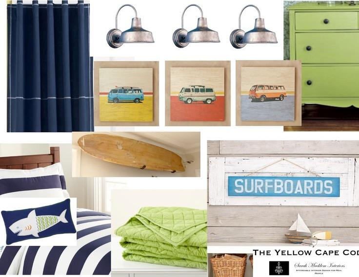 Vintage Surf Boys Room