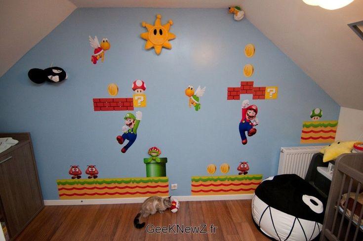 Luca Nintendo Room #video_game #NES #retro #decorating #kids #children #painting #mario #donkey_kong