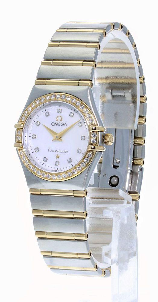 Omega Constellation Ladies Diamond Watch #Omega #DressFormal