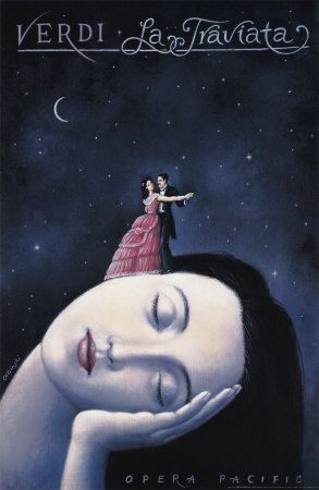La Traviata by Rafal Olbinski