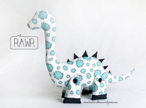 DALE the DIPLODOCUS - Plushie Sewing Pattern - PDF soft toy dinosaur pattern. Instant download