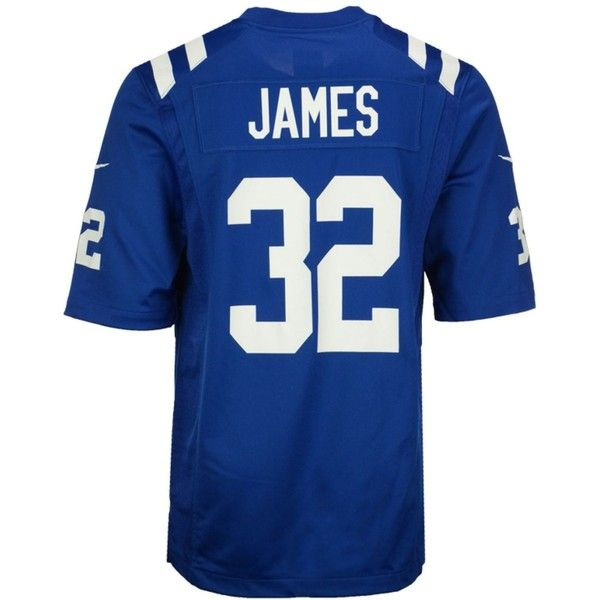 Nike Men's Edgerrin James Indianapolis Colts Retired Game Jersey ($100) ❤ liked on Polyvore featuring men's fashion, men's clothing, men's activewear, blue, nike mens apparel, mens jerseys, nike mens clothing, mens clothing and men's apparel