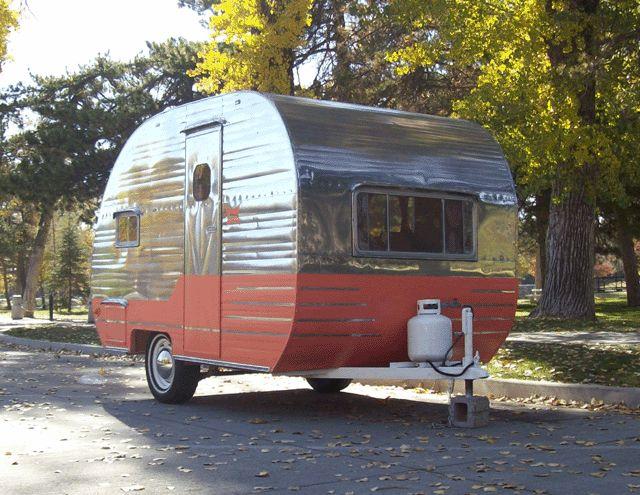 17 best images about vintage campers on pinterest vintage trailers for sale canned ham camper. Black Bedroom Furniture Sets. Home Design Ideas