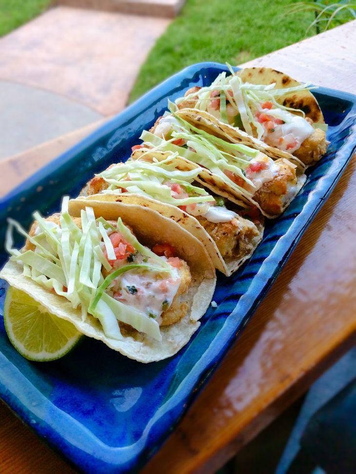 Air Fryer Fish Tacos 90 10 Nutrition Recipe Air Fryer Fish Fish Tacos Recipes