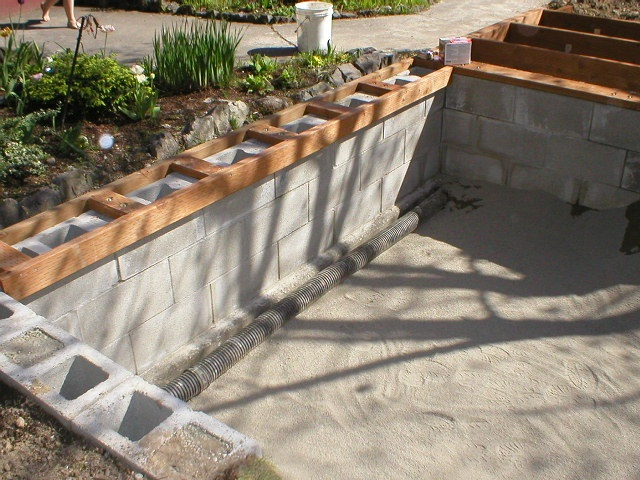 16 best concrete pond images on pinterest backyard ideas for Cinder block pond