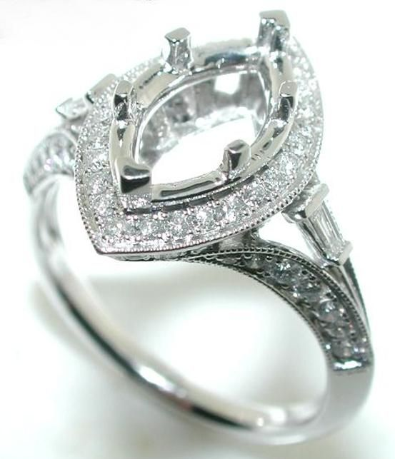 Best Setting For Marquise Diamond Details About 75ct Halo Mounting Ring