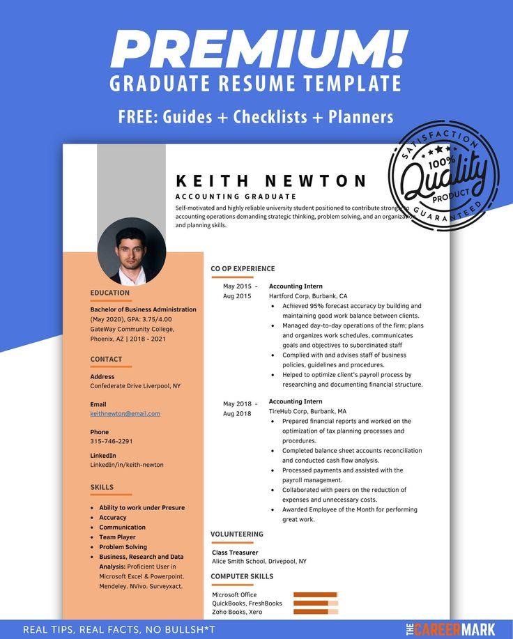 Ats resume template for recent graduates minimalist resume