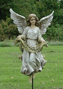"Gloria Angel for 27"" Outdoor Nativity Scene Full Color"