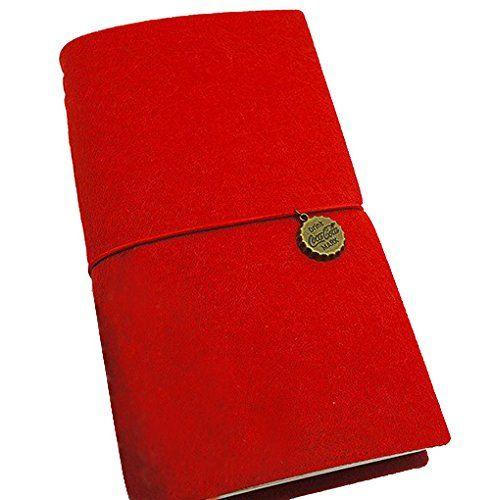 JAPAN AVE.  フェルト が カワイイ おしゃれ 個性を彩る トラベラーズ ノート / リフィル 3個 セット traveler's notebook パスポート サイズ 手帳 ~ 大切な 記録 を 整理 スケジュール 計画 日程 趣味 オフィス 事務 仕事 で大活躍 (レッド)