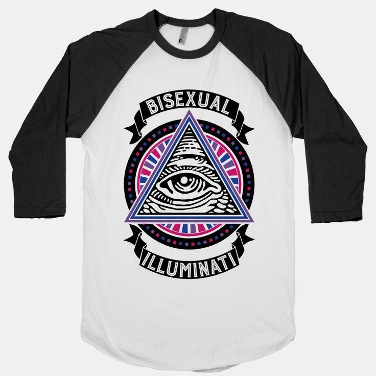 Bisexual Illuminati   T-Shirts, Tank Tops, Sweatshirts and Hoodies   HUMAN