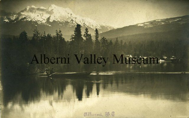 PN14795  Looking over Somass River to Mt. Arrowsmith, c1910.  [Alberni Valley Museum Photograph Collection]