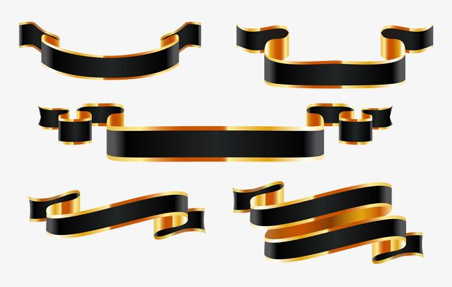 Black Gold Ribbon Tape Gift Cassette Child Packing Tape Png And Vector With Transparent Background For Free Download Gold Ribbons Ribbon Png Black Gold