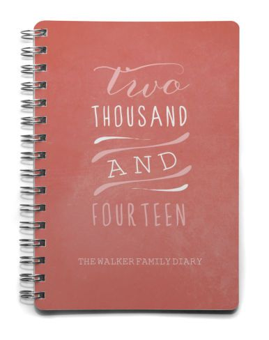 Personalised Family Diaries ~ tinyme.com.au