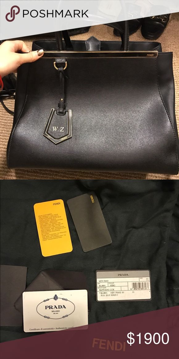 Fendi 2jours medium classic 99% like new, barely used including tag, this is the birthday gift from my exboyfriend, just wanna sell it as fast as possible!! Fendi Bags Satchels