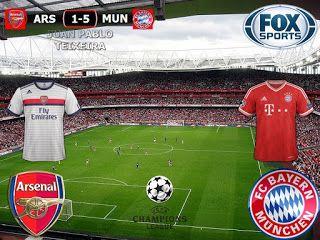UEFA Champions League 2016/17 8º Final Vuelta: Arsenal (ENG) 1-5 (2-10) Bayern Munich (GER)