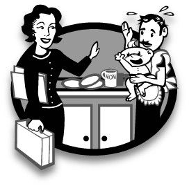 The Founding Mums' Exchange logo (black and white version) www.FoundingMums.com