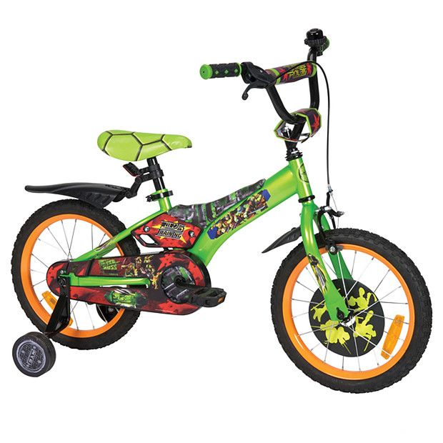 Teenage Mutant Ninja Turtles Bike With Removable Training Wheels 40cm