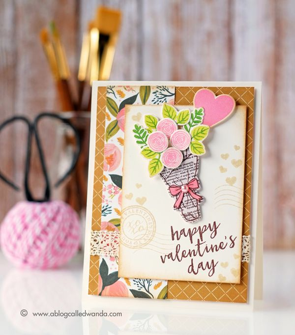 My Monthly Hero Kit from Hero Arts. January 2017. Vintage Valentine by Wanda Guess