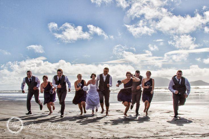 Bridal party race. PaulMichaels Wellington wedding photography http://www.paulmichaels.co.nz/weddings/