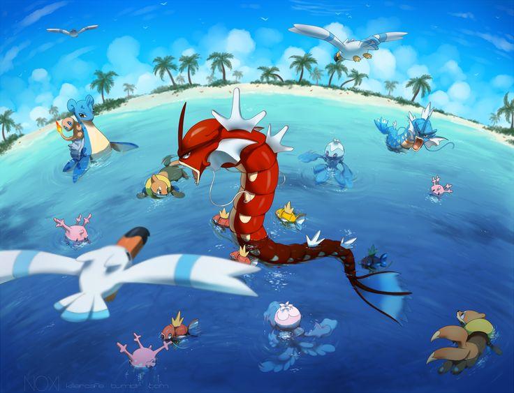 Beach Play(remake) | Water pokémon, Pokemon, Pokemon images